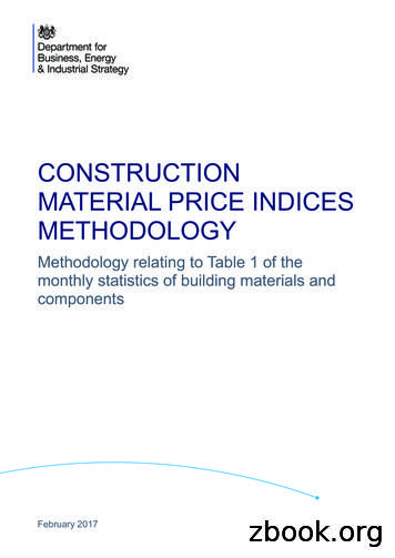 Construction Material Price Indices Methodology