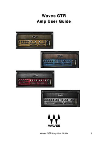 Waves GTR Amp Manual
