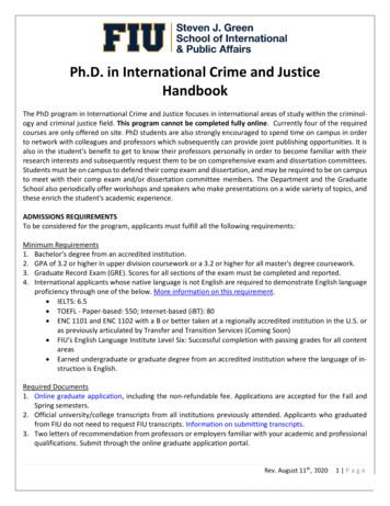 Ph.D. in International Crime and Justice Handbook