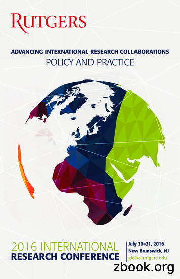 ADVANCING INTERNATIONAL RESEARCH COLLABORATIONS POLICY AND .