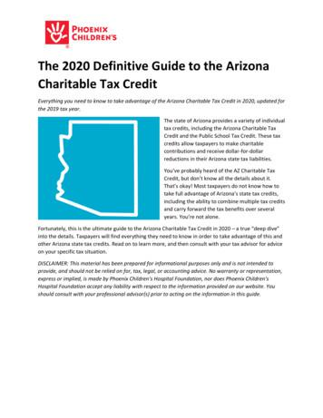 The 2020 Definitive Guide to the Arizona Charitable Tax Credit