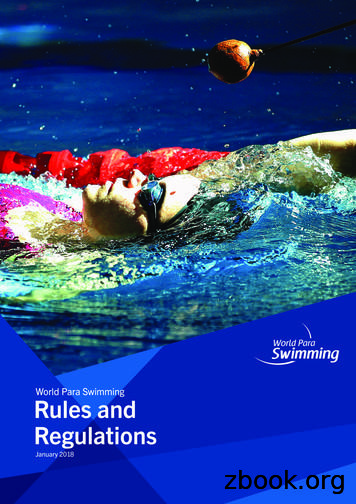 World Para Swimming Rules and Regulations
