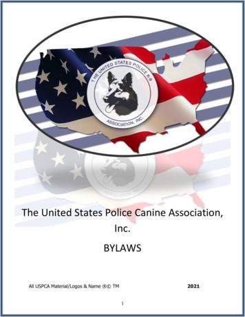 The United States Police Canine Association, Inc. BYLAWS