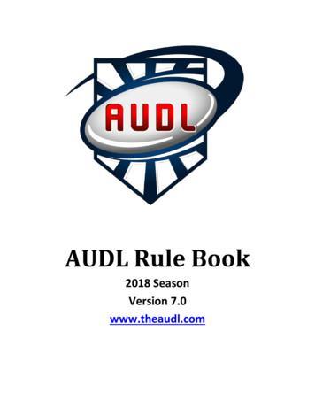 AUDL Rule Book
