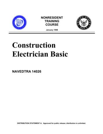 Construction Electrician Basic - Construction Knowledge