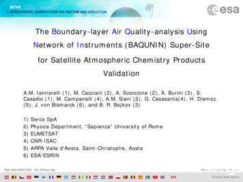 The Boundary-layer Air Quality-analysis Using Network of .