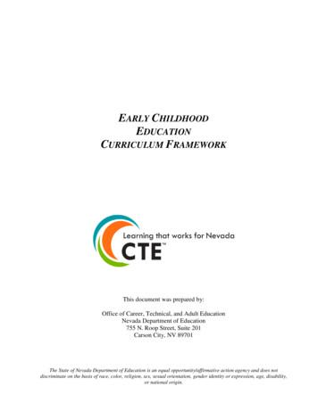 Early Childhood Education Curriculum Framework