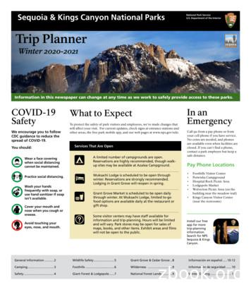Sequoia & Kings Canyon National Parks Trip Planner Winter .