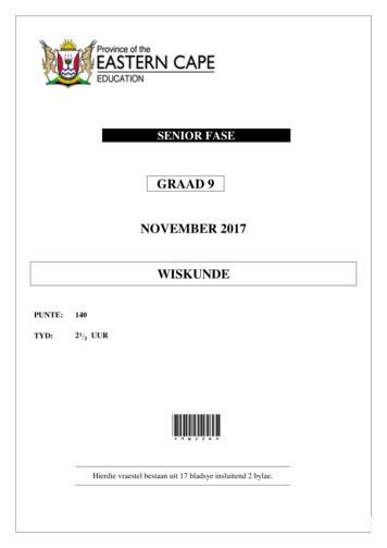 GRAAD 9 NOVEMBER 2017 WISKUNDE - AWSUM School News