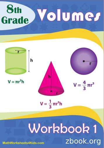 8 th Volumes Grade - Math Worksheets 4 Kids