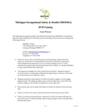 Michigan Occupational Safety & Health (MIOSHA) DVD Catalog