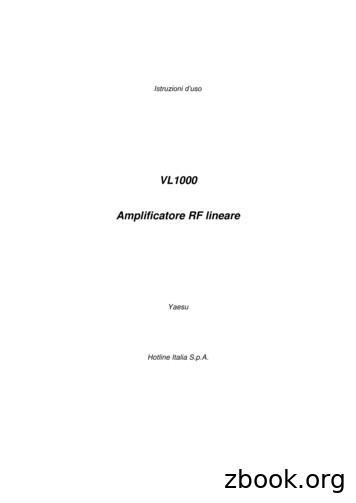 VL1000 Amplificatore RF lineare - ROSSANIGO