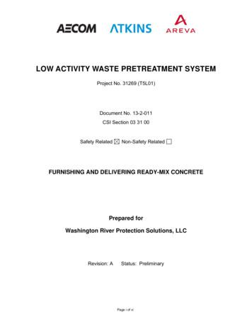 LOW ACTIVITY WASTE PRETREATMENT SYSTEM