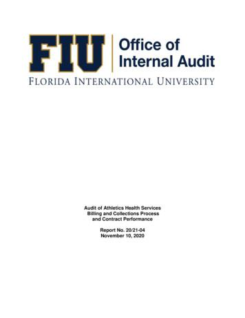 Audit of Athletics Health Services Billing and Collections .