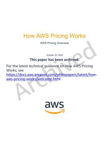 ARCHIVED: How AWS Pricing Works: AWS Pricing Overview