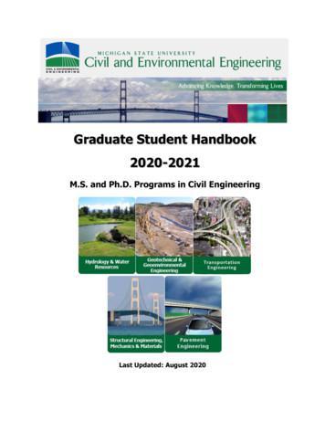 Graduate Student Handbook 2020-2021 - College of Engineering