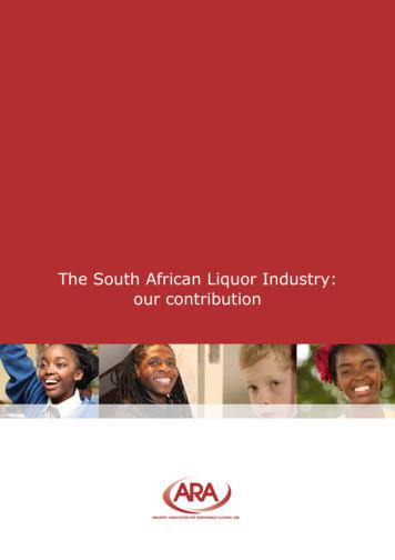 The South African Liquor Industry: our contribution