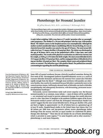 Phototherapy for Neonatal Jaundice - WordPress
