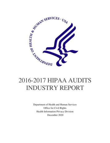 2016-2017 HIPAA AUDITS INDUSTRY REPORT