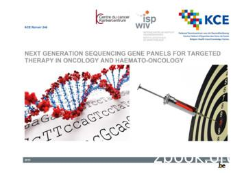 Next generation sequencing gene panels for targeted .