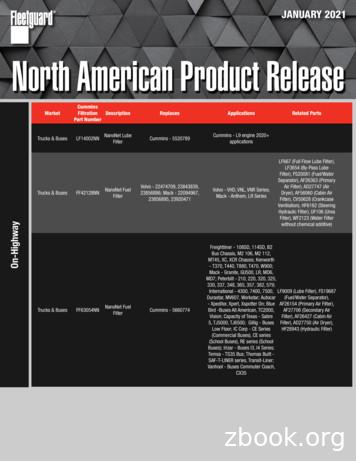 JANUARY 2021 North American Product Release