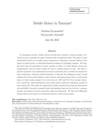 Mobile Money in Tanzania - Faculty Bios Berkeley Haas