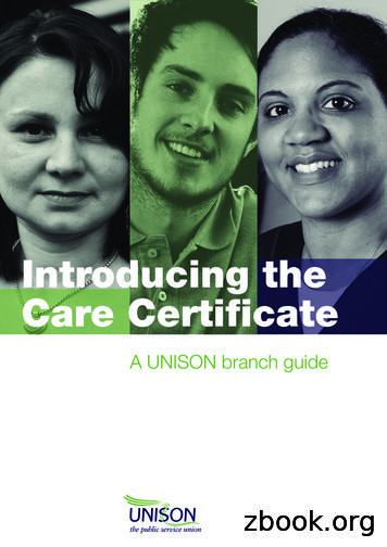 Introducing the Care Certificate - UNISON National