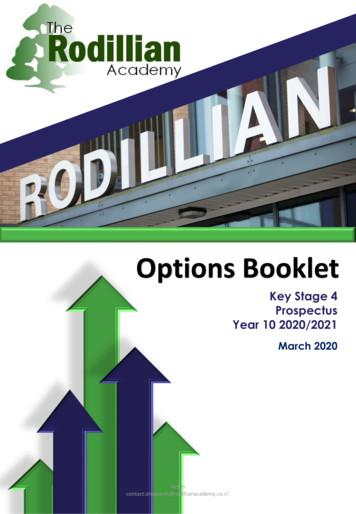 Options Booklet - The Rodillian Academy