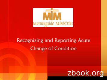 Recognizing and Reporting Acute Change of Condition