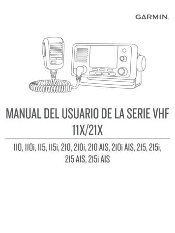 MANUAL DEL USUARIO DE LA SERIE VHF - Garmin
