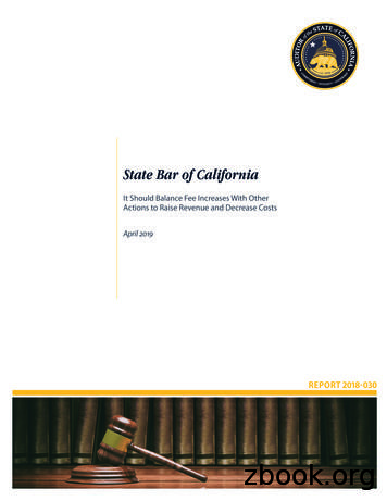 State Bar of California - California State Auditor