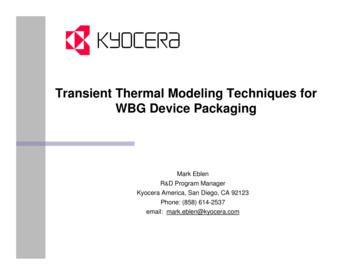 Transient Thermal Modeling Techniques for WBG Device Packaging
