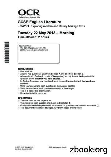 Oxford Cambridge and RSA GCSE English . - Revision World
