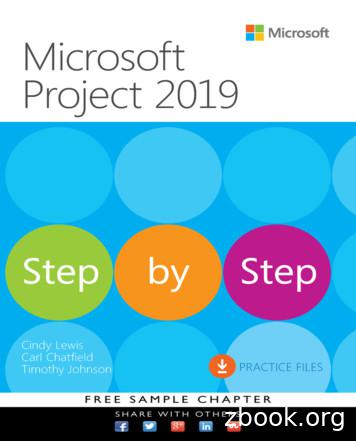 Microsoft Project 2019: Step by Step