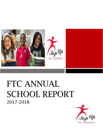 FTC ANNUAL SCHOOL REPORT - Step Up For Students