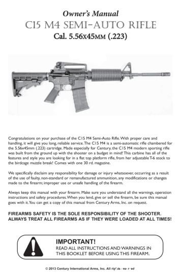 Owner's Manual C15 M4 SEMI-AUTO RIFLE - Century Arms