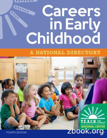 Careers in Early Childhood - Child Care Services Association