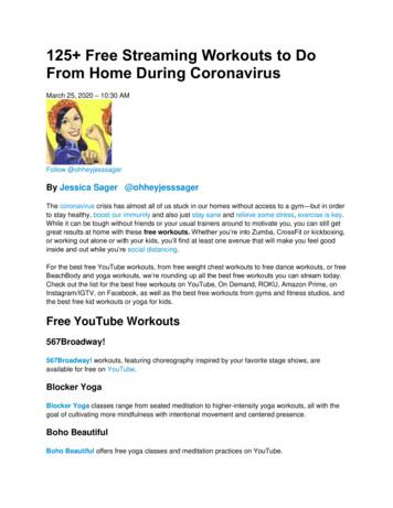 125 Free Streaming Workouts to Do From Home During .
