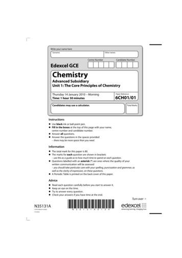 Edexcel GCE Chemistry - Past Papers