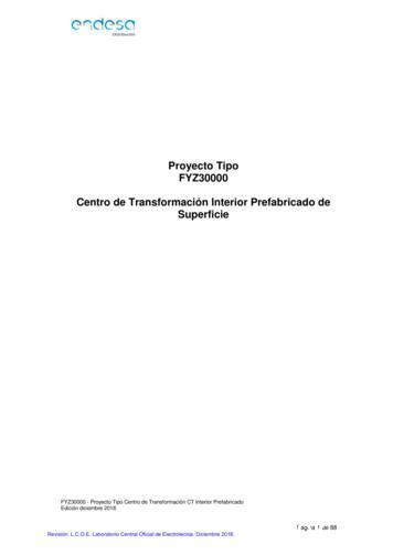 Proyecto Tipo Centro de Transformación Interior .
