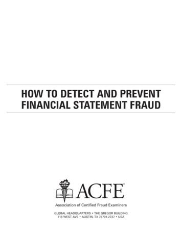 How to Detect and Prevent Financial Statement Fraud