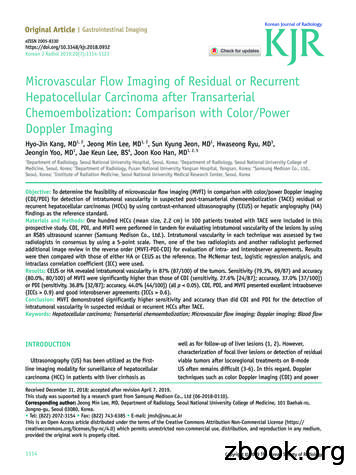 Microvascular Flow Imaging of Residual or Recurrent .