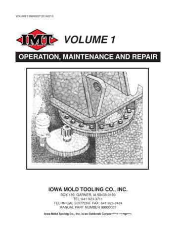 Volume 1 - Operation, Maintenance & Repair