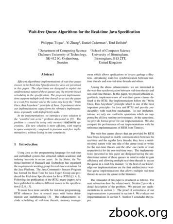 Wait-free Queue Algorithms for the Real-time Java Specification