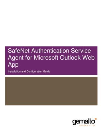 SafeNet Authentication Service Agent for Microsoft Outlook .