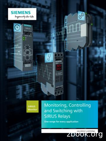 Monitoring, Controlling & Switching w/ SIRIUS Relays