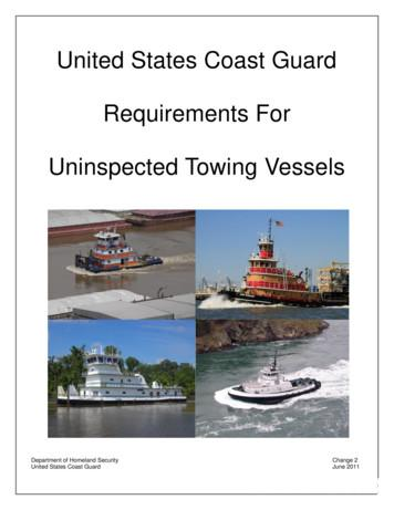 United States Coast Guard Requirements For Uninspected .