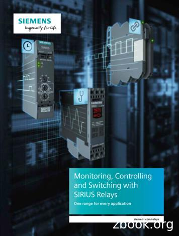 Monitoring, Controlling and Switching with SIRIUS Relays