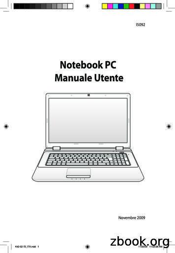Notebook PC Manuale Utente