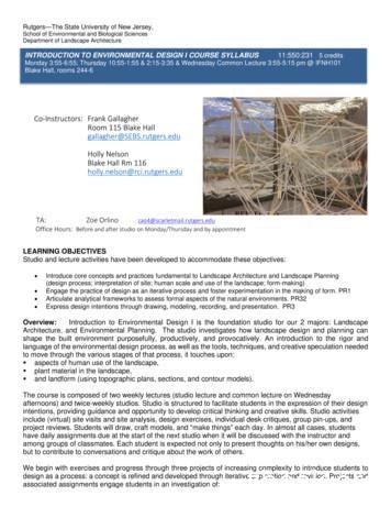 Department of Landscape Architecture